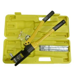 New 16 Ton Hydraulic Wire Cable Lug Terminal Crimper Crimping Tool With 11 Dies