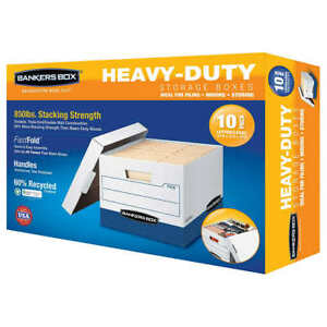 Bankers Box Heavy Duty File Boxes Letter Legal 10 Pack