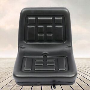 Tractor Seat Universal Lawn Mower Tractor Seat Back Pu Leather Waterproof New