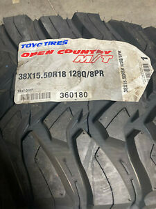 4 New Lt 38 15 50 18 Lrd 8 Ply Toyo Open Country M T Mud Tires