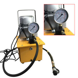 Electric Driven Hydraulic Pump 110v 10000psi Singleacting 750w Oilcapacity 7l Us