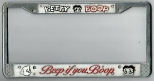Vintage Betty Boop Beep If You Boop Novelty California License Plate Frame