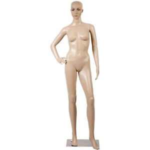 68 9 Realistic Display Head Turns Dress Form With Metal Base Female Mannequin