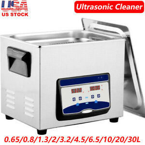 Us Commercial Ultrasonic Cleaner Digital Industry Heated Heater W timer Jewelry