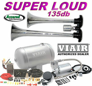 Truck Train Air Horn H d Viair 150psi Compressor 1 Gal Kit Loud For Cars Trucks