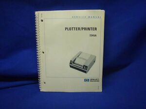 Hp 7245a Plotter printer Service Manual