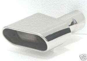 Rectangle Angled Outlet 5 5 Wide Stainless Exhaust Tip