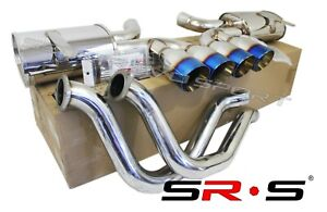 Sr s 97 04 Chevy Corvette C5 z06 Ls 5 7l Quad 4 Burnt Tips Catback Exhaust
