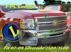08 09 2009 2010 2008 Chevy Silverado 2500 3500hd New Billet Grille 3pc
