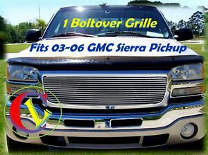 03 06 04 2004 2003 03 2006 06 2005 05 Gmc Sierra Pickup Billet Grille 1pc