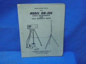 Stoddart Model Nm 50a Instruction Book