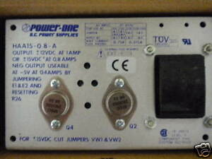 Power One Haa15 0 8 a 12 15vdc Linear Power Supply New