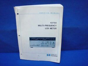 Hp 4275a Lcr Meter Service Manual