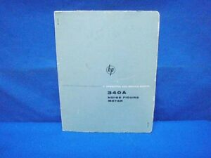 Hp 340a Noise Figure Meter Operating Service Manual