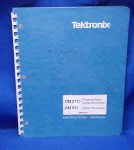 Tektronix Dm5110 Dm511 Prg Dmm Service Manual