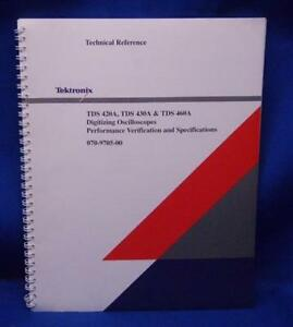 Tektronix Tds420a 430a 460a Technical Reference Manual