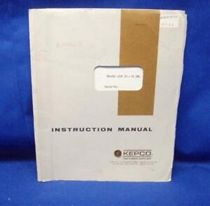 Kepco Jqe25 10 Instruction Manual W schematics