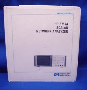 Hp 8757a Scalar Network Analyzer Service Manual
