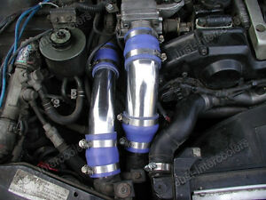 Cxracing Intercooler Piping Kit With Blue Couplers For 90 96 Nissan 300zx Z32