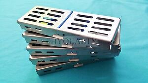10 Surgical Dental Autoclave Sterilizaiton Cassette Tray Box For 5 Instruments