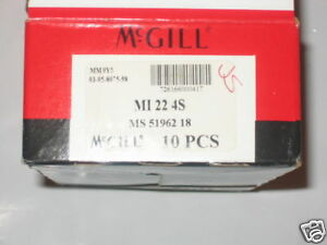 Mcgill Precision Bearings Mi 22 4s New Lot Of 11 Mi224s