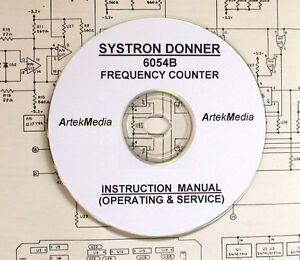 Systron Donner 6054b Instruction operating Service Manual
