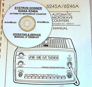 Systron Donner 6245a 6246a Microwave Counter Operating Service Manual