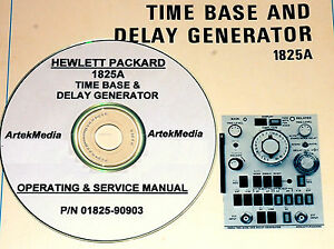 Hp 1825a Time Base Plug in Operating Service Manual