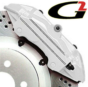 White G2 Brake Caliper Paint Epoxy Style Kit Free Ship