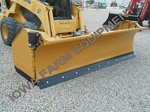 Horst 3200 Skidsteer Qa Snow Wing snow Pusher 9 closed 14 open Steel Trip Edge