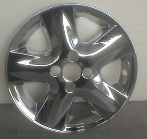 06 07 08 Toyota Yaris Chrome Wheel Skins 15 For Alloy