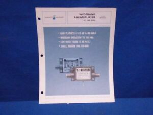 Hp 35002a Wideband Amplifier Technical Data 1 Apr 70