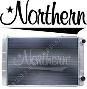 Northern 209624 Aluminum Radiator Chevy Gm Fit 28 X 19 Double Pass 2 Row Racing
