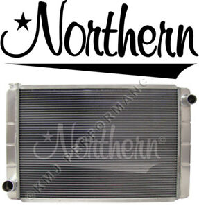 Northern 209697 Triple Pass Aluminum 2 row Tig Welded Radiator Ford Mopar 31x19