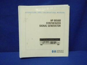 Hp 8656b Operation Calibration Manual Sections 1 iv