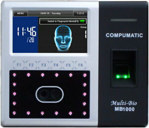 Compumatic Mb1000 Multi bio Face Recognition Time Clock