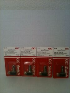 4 New Gc Switch Pushbutton Switches 35 449 Spst 3 6a
