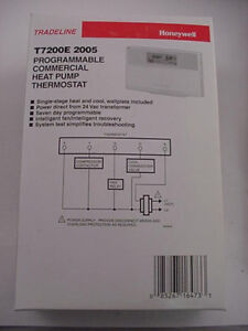 Honeywell T7200e 2005 Heat Pump Thermostat T7200e2005 Ships Day Of Purchase