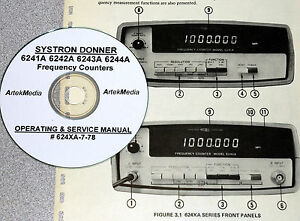 Systron Donner 6241a 6242a 6243a 6244a Operating Service Manual