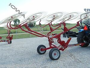 Sitrex H90 v10 10 Wheel Caddy Hay Rake Carted Hay Rake 23 Working Width
