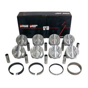 Speed Pro H273cp40 Ford Sbf 289 302 Flat Top Pistons Moly Rings Kit 4 040