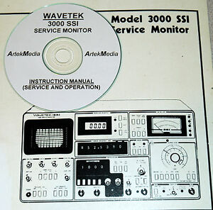 Wavetek 3000 Ssi Service Monitor Ops Service Manual