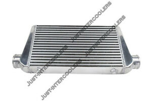 Cxracing Universal 27x12x3 Bar Plate 3 Inlet Outlet Front Mount Intercooler