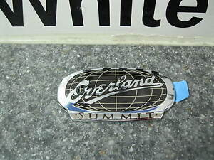 2011 2012 Jeep Grand Cherokee Overland Summit Emblem Nameplate Decal Mopar Oem