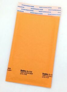 250 000 4 x8 Kraft Bubble Lined Mailer Envelopes Self Seal Free Shipping