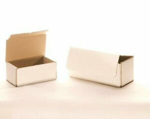 50 5 X 5 X 5 White Corrugated Mailers Die Cut Tuck Flap Boxes Free Shipping
