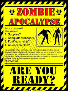 Zombie Apocalypse Zombie Sticker 2 Pack Funny Living Dead Decals Ws 385
