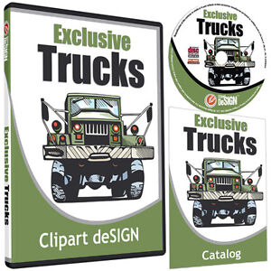 Trucks Clipart vinyl Cutter Plotter Images eps Vector Clip Art Cd
