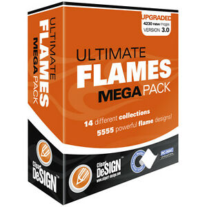 Flames Clipart vinyl Cutter Plotter Images eps Vector Clip Art Graphics Cd