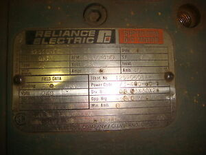T25r0608a 10 Hp 850 3450 Rpm Reliance Dc Motor